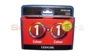 LEXMARK NO 1 INK COLOR TWIN PACK (80D2955BL)