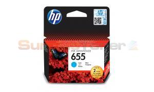 HP 655 INK CARTRIDGE CYAN (CZ110AE)