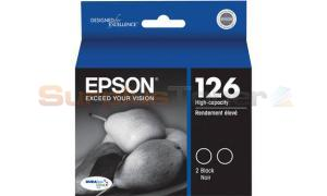 EPSON 126 INK CTG HY DUAL PACK BLACK (C13T126126)