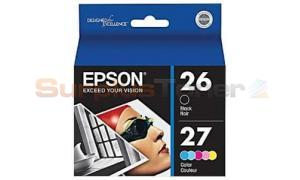 EPSON 26 27 INK BLACK/COLOR (C13T0272BC)