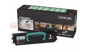 LEXMARK E350 TONER CARTRIDGE BLACK (E250A80G)
