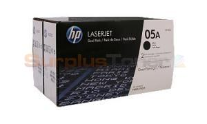 HP NO 05A TONER CART BLACK DUAL PACK (CE505D)