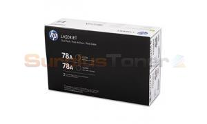 HP LJ 78A TONER CARTRIDGES BLACK DUAL PACK (CE278D)
