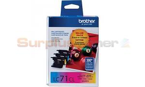 BROTHER MFC-J280W INK CARTRIDGE CMY 3-PACK (LC-71CL)