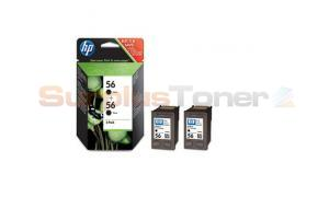 HP 56 INK CARTRIDGE BLACK 2-PACK (C9502AE#301)