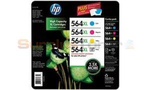 HP 564XL INK CMY/PHOTO BLACK CLUB CVP PACK (D8J62BN)