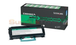 LEXMARK E360 TONER CARTRIDGE BLACK 9K (E360H80G)