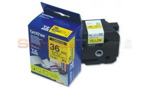 BROTHER P-TOUCH TAPE BLACK/YELLOW (1-1/2 X 26) (TZ-661)