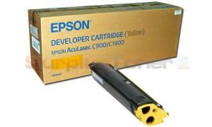 EPSON C900 1900 DEVELOPER CARTRIDGE YELLOW (S050097)