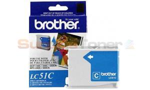 BROTHER DCP-130C INK CARTRIDGE CYAN (LC51C)