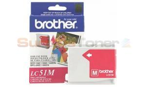 BROTHER DCP-130C INK CARTRIDGE MAGENTA (LC51M)