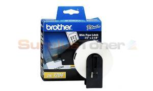 BROTHER P-TOUCH PAPER DIE CUT LABELS 2/3IN (DK1204)