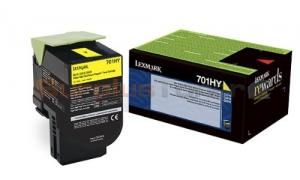 LEXMARK CS410 RP TONER CARTRIDGE YELLOW 3K (70C1HY0)