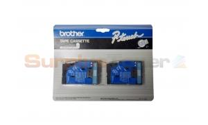 BROTHER 1/2IN BLUE ON CLEAR LAMINATED TAPE (TC-12)