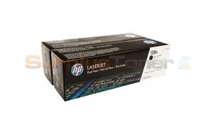 HP 128A TONER CARTRIDGES BLACK DUAL PACK (CE320AD)