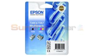 EPSON STYLUS C66 INK CARTRIDGE BLACK AND COLOR (T066/T067(TWIN PACK))