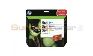 HP NO 564 INK CARTRIDGE COLOR COMBO PACK (B3B33FN)
