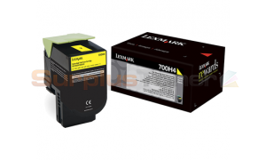 LEXMARK CS410 TONER CARTRIDGE YELLOW 3K (70C0H40)