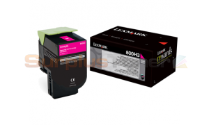 LEXMARK CX410 TONER CARTRIDGE MAGENTA 3K (80C0H30)
