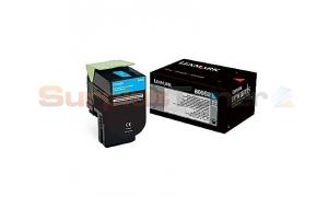 LEXMARK CX310 TONER CARTRIDGE CYAN 2K (80C0S20)