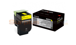 LEXMARK CX510 TONER CARTRIDGE YELLOW 4K (80C0X40)