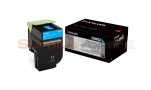 LEXMARK CX510 TONER CARTRIDGE CYAN 4K (80C0X20)