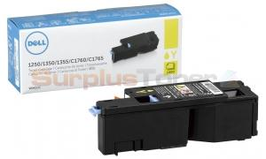 DELL 1250C 1355CN TONER CARTRIDGE YELLOW 1.4K (593-11143)