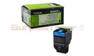 LEXMARK CX510 TONER CARTRIDGE CYAN 2K (80C2SCE)