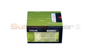 LEXMARK CX510 CORPORATE TONER CARTRIDGE BLACK 2.5K (80C2SKE)