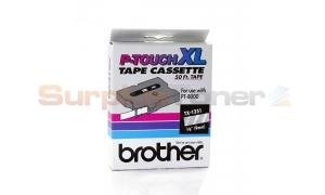 BROTHER P-TOUCH TAPE WHITE ON CLEAR 3/8 X 50 (TX-1251)
