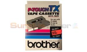 BROTHER P-TOUCH TAPE BLACK/RED (1/2 X 50) (TX-4311)