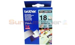 BROTHER TZ TAPE BLACK ON MARINE 18 MM X 8 M (TZ-PM41)