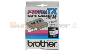 BROTHER P-TOUCH TAPE BLUE/CLEAR (1/2 X 50) (TX-1331)