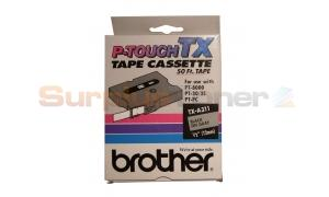 BROTHER P-TOUCH TAPE BLACK/GRAY (1/2 X 50) (TX-A311)