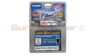 BROTHER TZ ID FLEXIBLE TAPE BLACK ON WHITE 12 MM X 8 M (TZ-FX231CS)