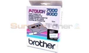 BROTHER TX TAPE BLUE ON CLEAR 12 MM X 15 M (TX-133)