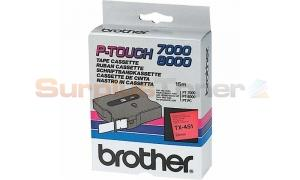 BROTHER TX TAPE BLACK ON RED 24 MM X 15 M (TX-451)