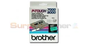 BROTHER TX TAPE BLACK ON GREEN 12 MM X 15 M (TX-731)