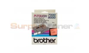 BROTHER TX TAPE BLACK ON ORANGE FLUORESCENT 24 MM X 15 M (TX-B51)