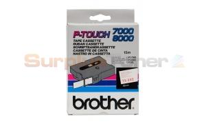 BROTHER TX TAPE RED ON WHITE 18 MM X 15 M (TX-242)