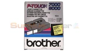 BROTHER TX TAPE BLACK ON FLUORESCENT 24 MM X 15 M (TX-C51)