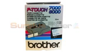 BROTHER TX TAPE BLUE ON WHITE 18 MM X 15 M (TX-243)