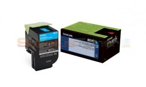 LEXMARK CX510 TONER CARTRIDGE CYAN RP 1K (80C10C0)