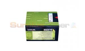 LEXMARK CX510 TONER CARTRIDGE YELLOW 4K (80C2XYE)