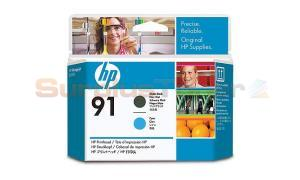 HP NO 91 PRINTHEAD MATTE BLACK AND CYAN (C9460A)