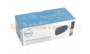 DELL 1250C TONER CARTRIDGE BLACK 2K (593-11140)