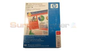 HP TRANSPARENCY COLOR CLEAR LETTER SIZE (50/BX) (C2934A)
