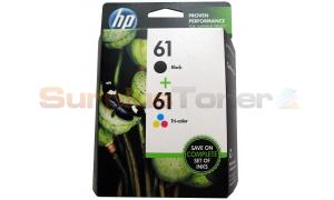 HP NO 61 INK BLACK/COLOR COMBO PACK (CR259FN)