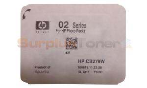 HP NO 02 INK CARTRIDGE BLACK (NO BOX) (CB279W)