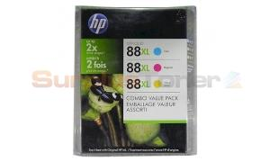 HP NO 88XL PRINT CTG COLOR VALUE COMBO PACK (CB329BN)